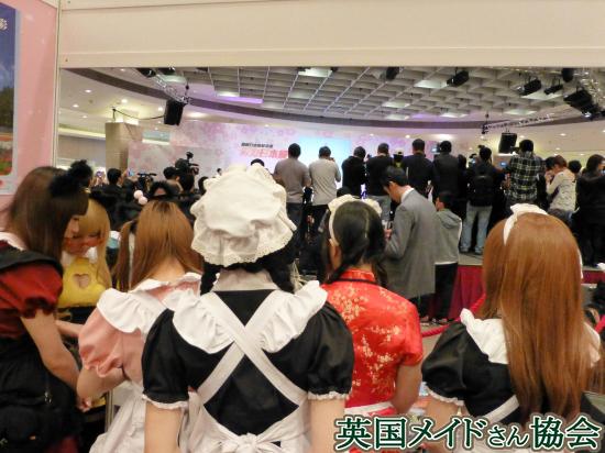 活力日本展in香港 JNTOブースより、開場準備と取材陣
